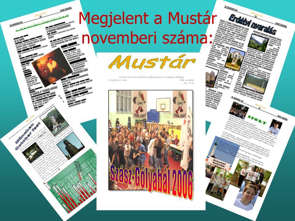 Megjelent a Mustár novemberi száma: