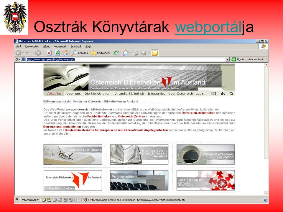 Osztrák Könyvtárak webportáljawebportál