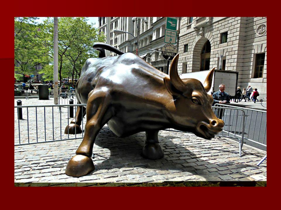 1989-ben egy olasz-amerikai szobrász engedély nélkül a tőzsde épülete elé helyezett egy támadó bikát ábrázoló, 3 és fél tonnás szobrot. Másnap szóróla
