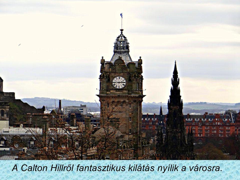 Edinburgh kis utcácskáival, román és gótikus stílusú házaival középkori megőrizte a középkor hangulatát. A képen látható torony egy szállodához tartoz