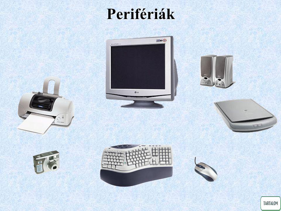 Monitor Katódsugárcsöves (CRT) monitor működése Folyadékkristályos kijelző (LCD) működése • 14 -os monokróm (sárga, zöld, fehér) • 14 -os színes (VGA, SVGA) • 15 -os színes • 17 -os színes (XGA) • 19 -os színes • 21 (profi mérnöki alkalmazásra) • 12 -os monokróm • 12 -os színes • 14 • 15 • 17 • 19 Fejlődés: