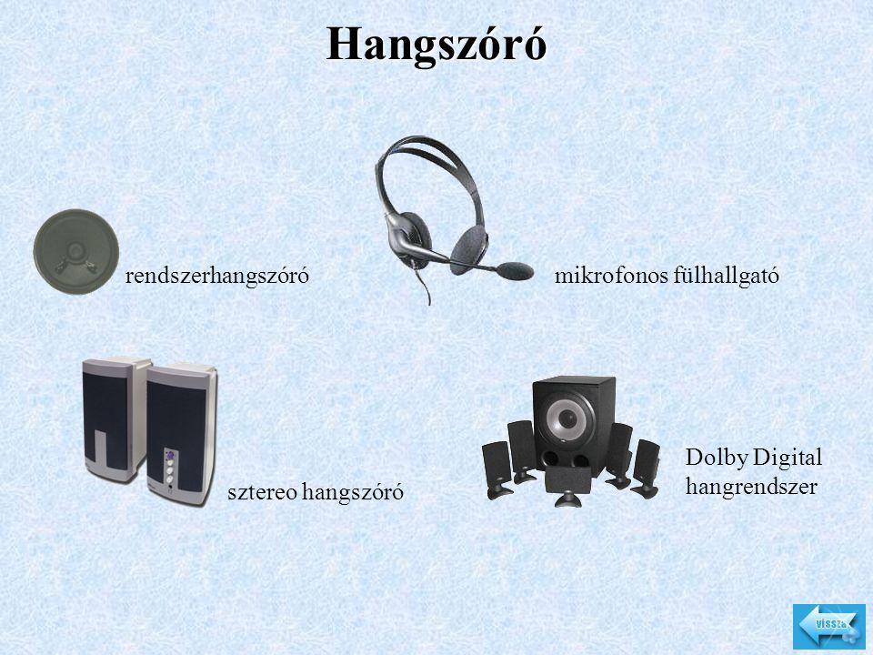 Hangszóró rendszerhangszórómikrofonos fülhallgató sztereo hangszóró Dolby Digital hangrendszer