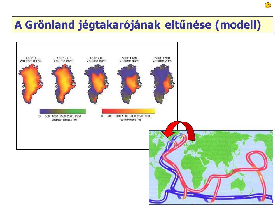 64 A Grönland jégtakarójának eltűnése (modell)