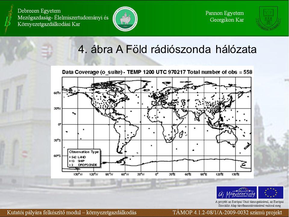 4. ábra A Föld rádiószonda hálózata
