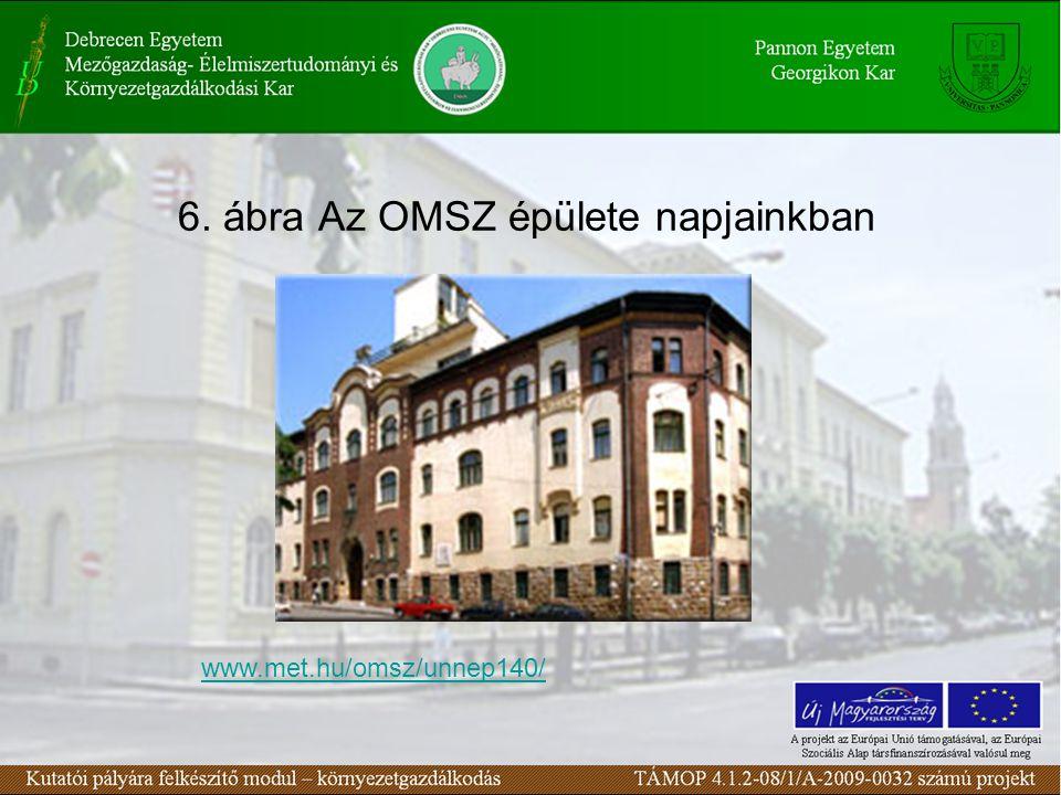 6. ábra Az OMSZ épülete napjainkban www.met.hu/omsz/unnep140/