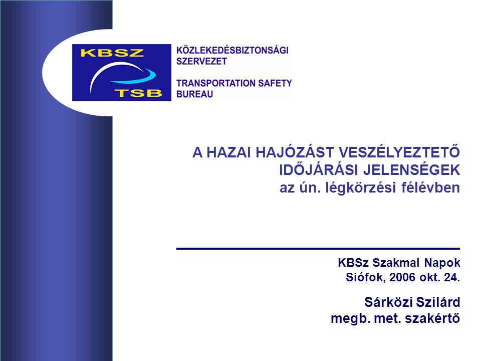 KBSz Szakmai Napok Siófok, 2006 okt. 24. Sárközi Szilárd megb.