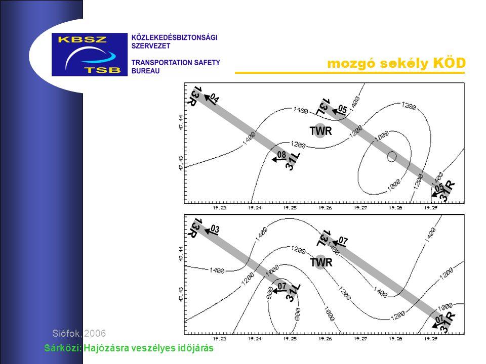 Sárközi: Hajózásra veszélyes időjárás Siófok, 2006 mozgó sekély KÖD