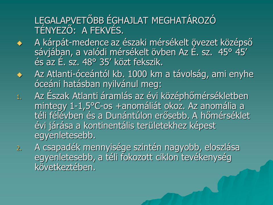 MERIDIONÁLIS IRÁNYÍTÁSÚ HELYZETEK DÉLIES ÁRAMLÁSSAL 4.