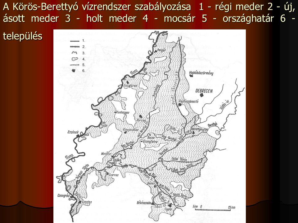  A Maros szabályozásával, 27 kanyarulat átvágással, a folyó hosszának 50 km-es rövidítésével az esés növelése, az árhullámok gyorsabb levezetése mellett az Erdélyi-medencét és az alföldi tájakat összekötő hajóút fejlesztésére is törekedtek.