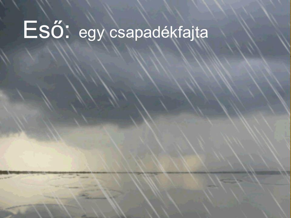Eső: egy csapadékfajta