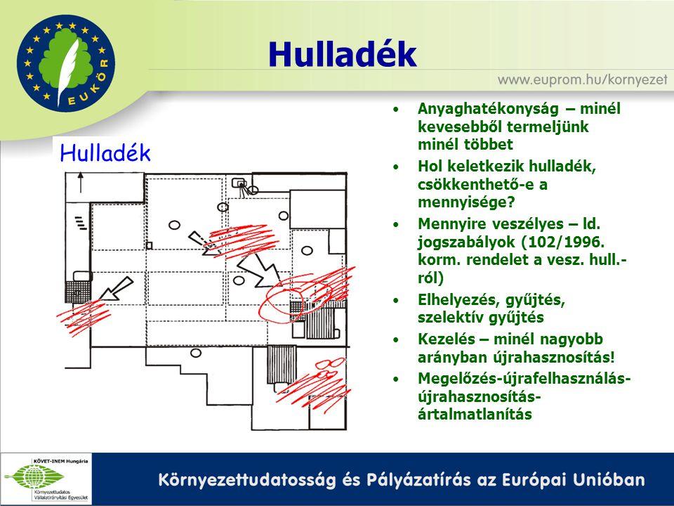 Energia (elektromos, hő, gőz) MÉRÉS.1. Energiatermelők – ld.