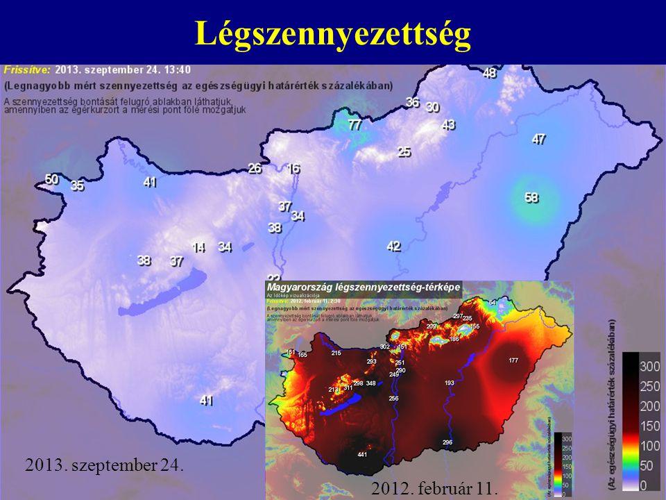 Légszennyezettség 2012. február 11. 2013. szeptember 24.