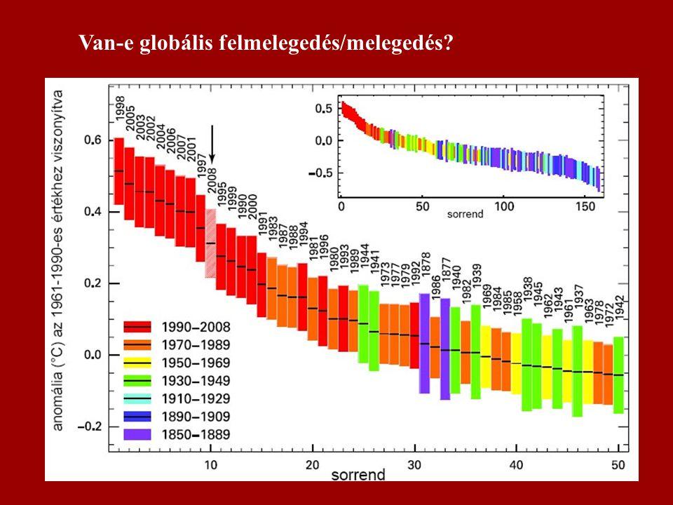 Van-e globális felmelegedés/melegedés?