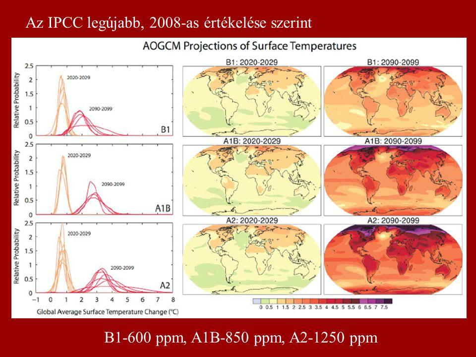 Kb. 1000 – 1500 km 2 -en alig visszafordítható folyamat 2000 2003