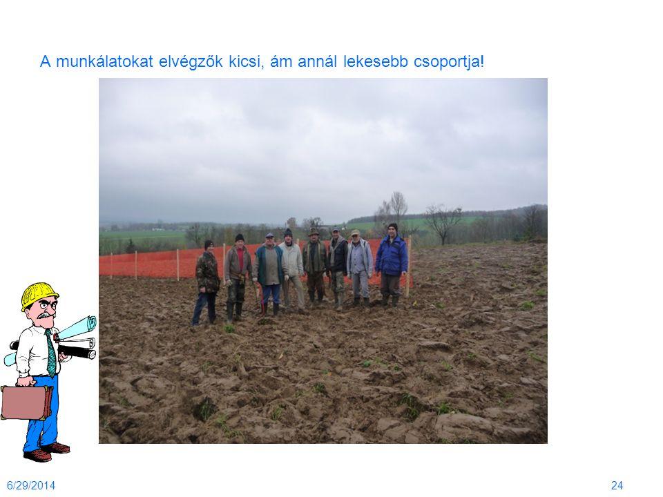 A munkálatokat elvégzők kicsi, ám annál lekesebb csoportja! 6/29/201424