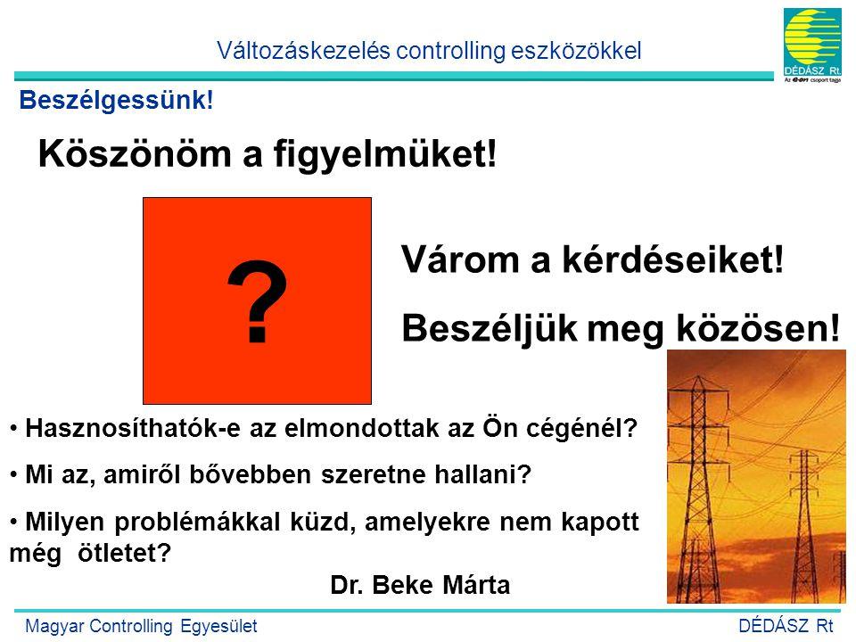 23 Köszönöm a figyelmüket! ? Várom a kérdéseiket! Beszéljük meg közösen! Dr. Beke Márta • Hasznosíthatók-e az elmondottak az Ön cégénél? • Mi az, amir