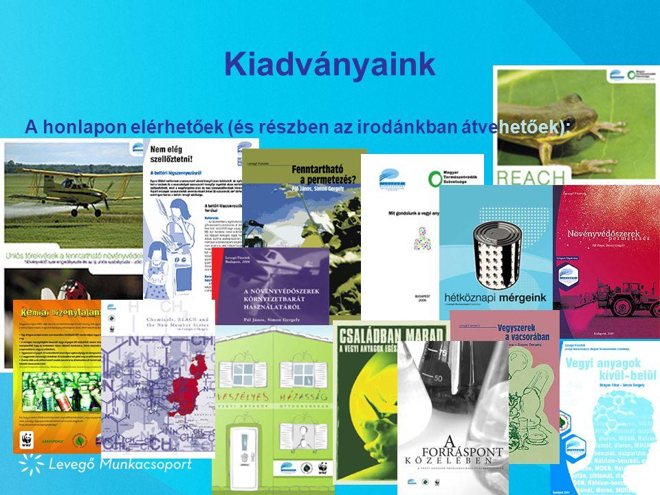 Kiadványaink Pécs, 2008. március 28. A honlapon elérhetőek (és részben az irodánkban átvehetőek):