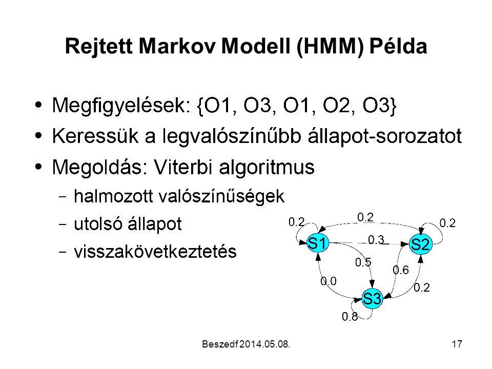 Rejtett Markov Modell (HMM) Példa Beszedf 2014.05.08.17