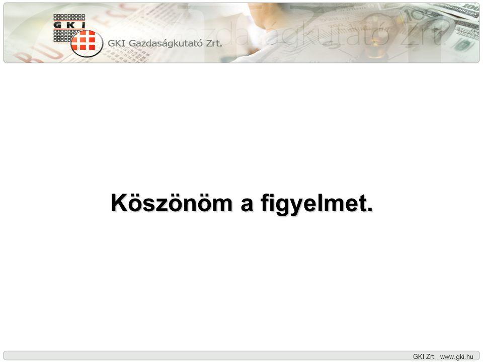 GKI Zrt., www.gki.hu Köszönöm a figyelmet.