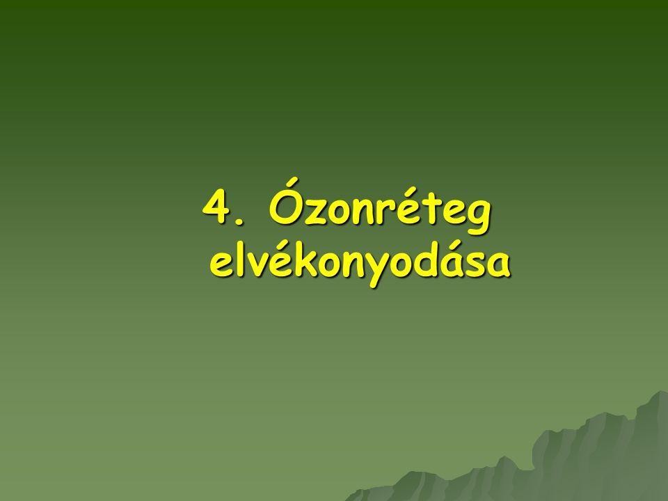 4. Ózonréteg elvékonyodása