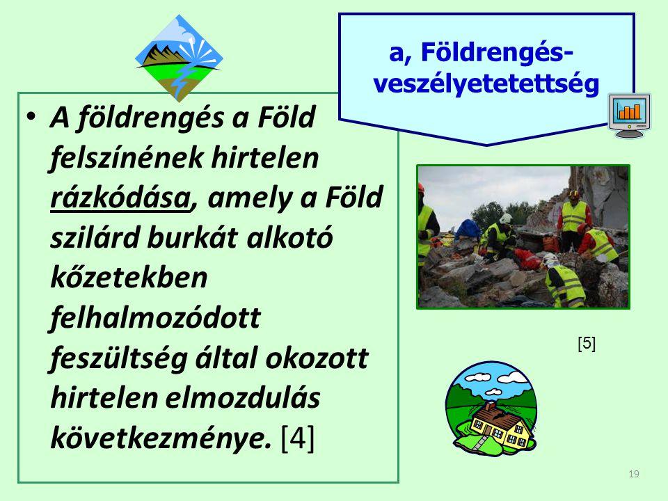 19 • A földrengés a Föld felszínének hirtelen rázkódása, amely a Föld szilárd burkát alkotó kőzetekben felhalmozódott feszültség által okozott hirtele