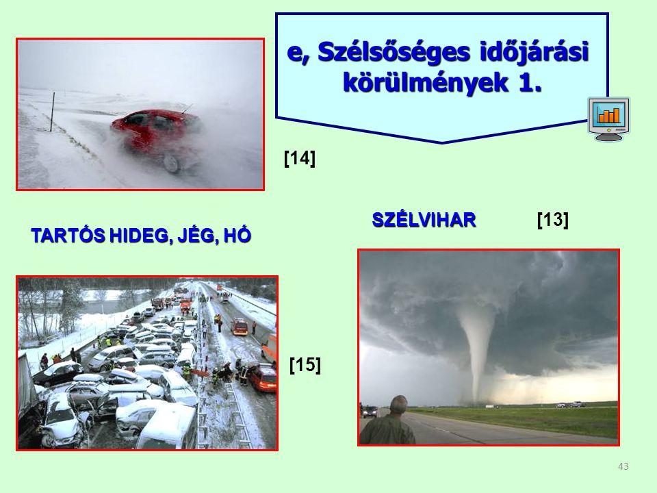 43 e, Szélsőséges időjárási körülmények 1. TARTÓS HIDEG, JÉG, HÓ SZÉLVIHAR[13] [14] [15]