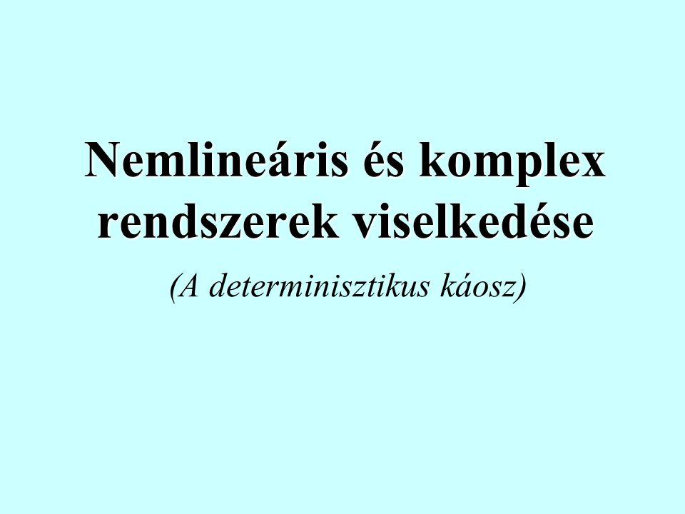 Nemlineáris és komplex rendszerek viselkedése (A determinisztikus káosz)