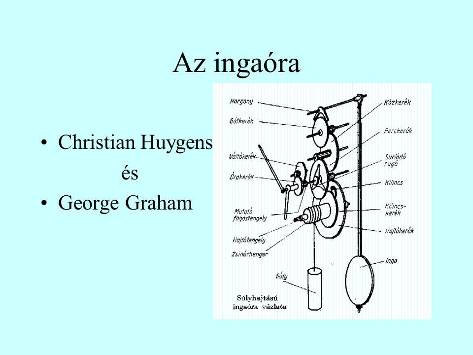 Az ingaóra •Christian Huygens és •George Graham