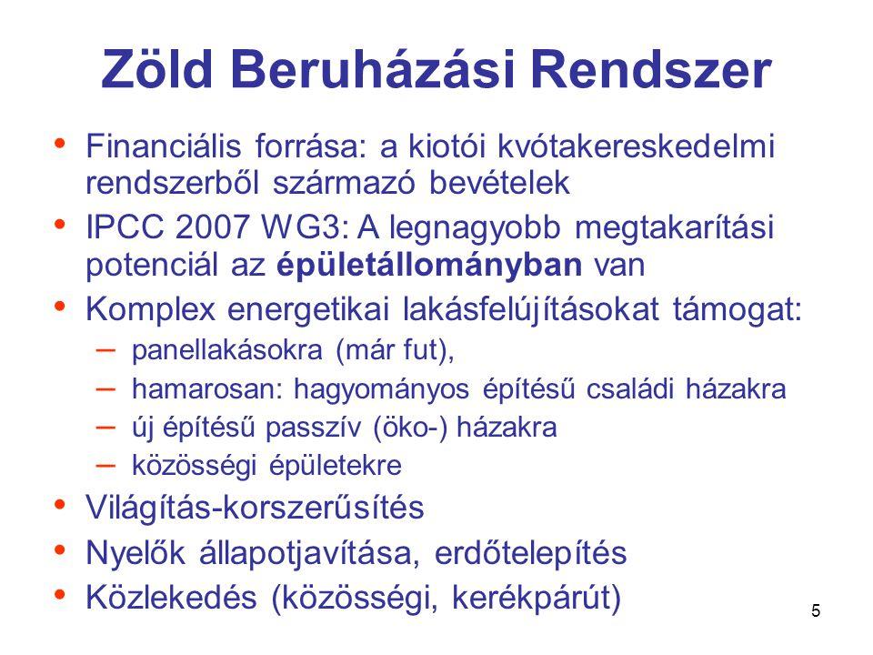 6 • Stratégiai alapelv: az energiatakarékosság 20%-os növelése, importfüggés csökkentése • Non-EU ETS ágazatokban évi 1%-os energia-felhasználás csökkentés • Eszközök: támogatások, beruházások, szemléletformálás • Fosszilis hordozók kiváltása megújulókkal • Fő célterületek: épületek, közlekedés • Források: KEOP, ROP, ZBR + egyéb Nemzeti Energiahatékonysági Cselekvési Terv (KHEM)