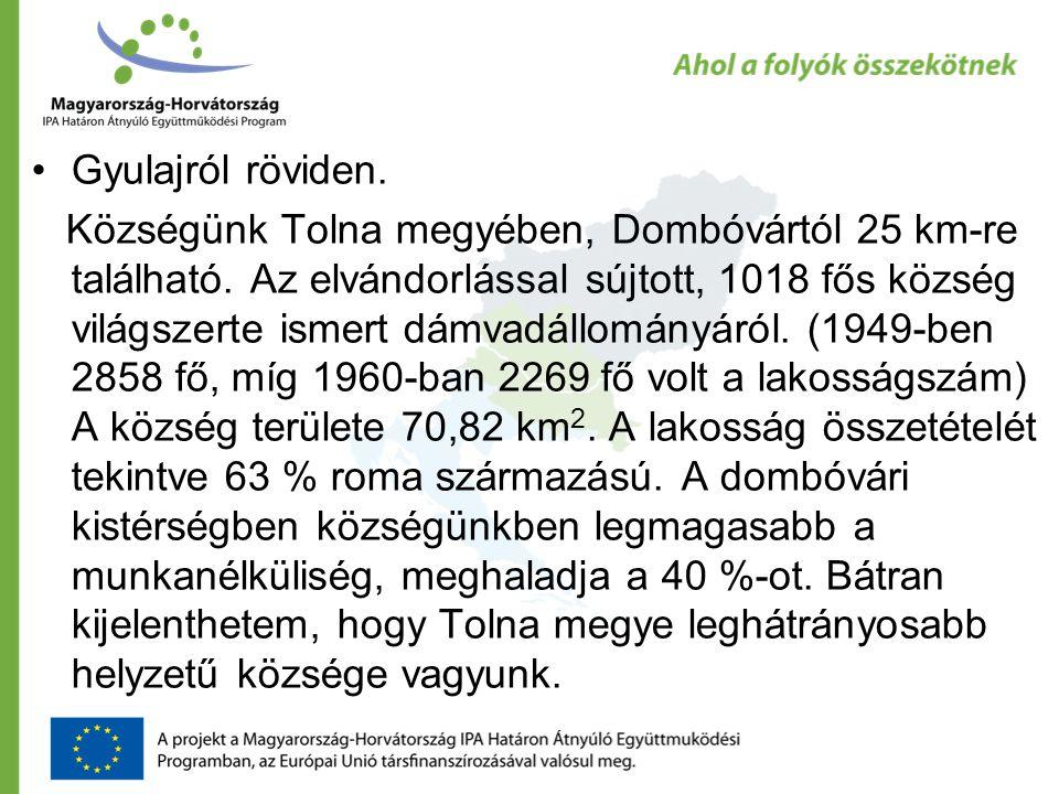 •Gyulajról röviden. Községünk Tolna megyében, Dombóvártól 25 km-re található.
