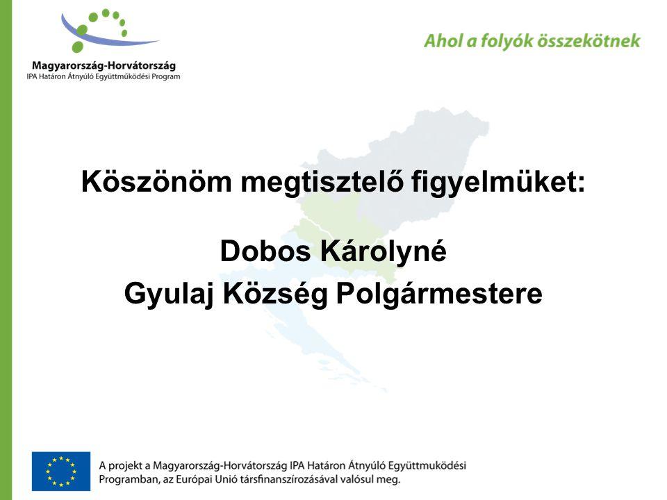 Köszönöm megtisztelő figyelmüket: Dobos Károlyné Gyulaj Község Polgármestere