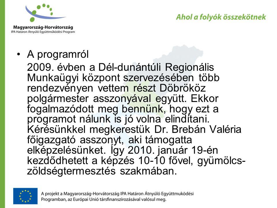 •A programról 2009.