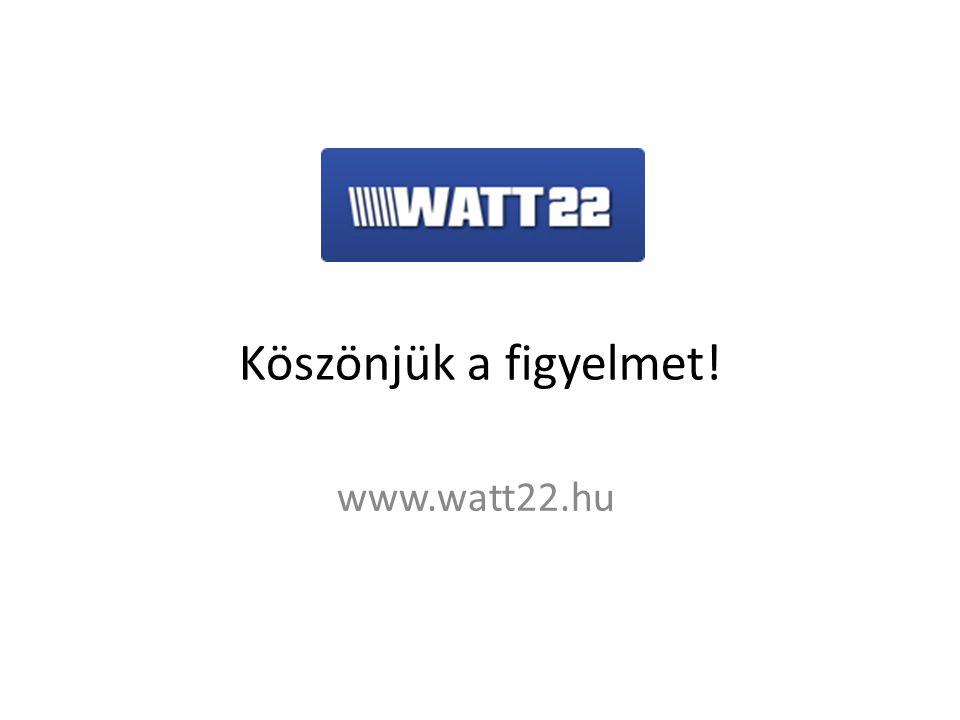www.watt22.hu Köszönjük a figyelmet!