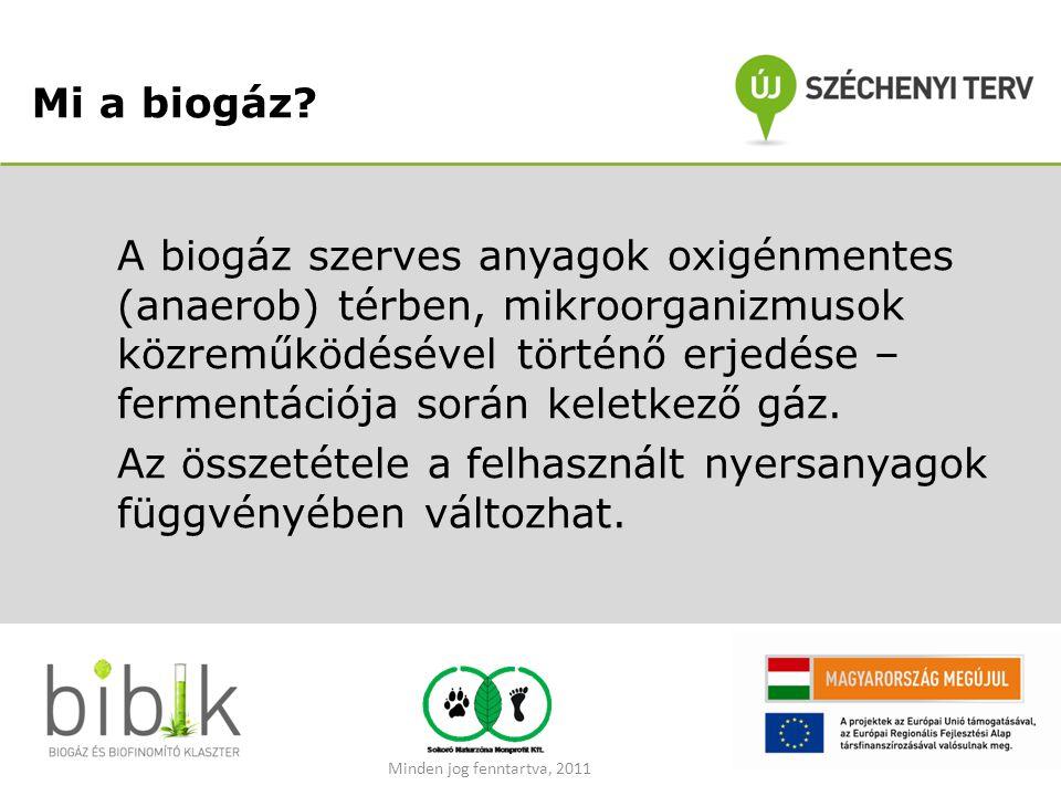 Mi a biogáz? A biogáz szerves anyagok oxigénmentes (anaerob) térben, mikroorganizmusok közreműködésével történő erjedése – fermentációja során keletke