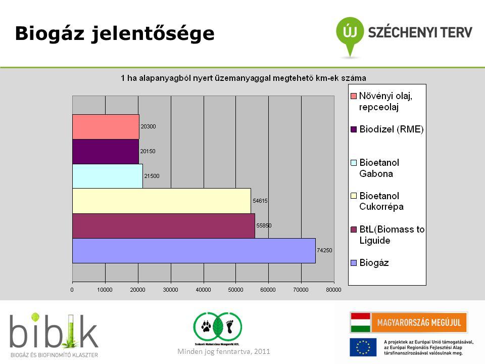 Biogáz jelentősége Minden jog fenntartva, 2011