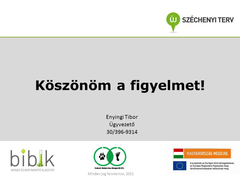 Köszönöm a figyelmet! Enyingi Tibor Ügyvezető30/396-9314 Minden jog fenntartva, 2011