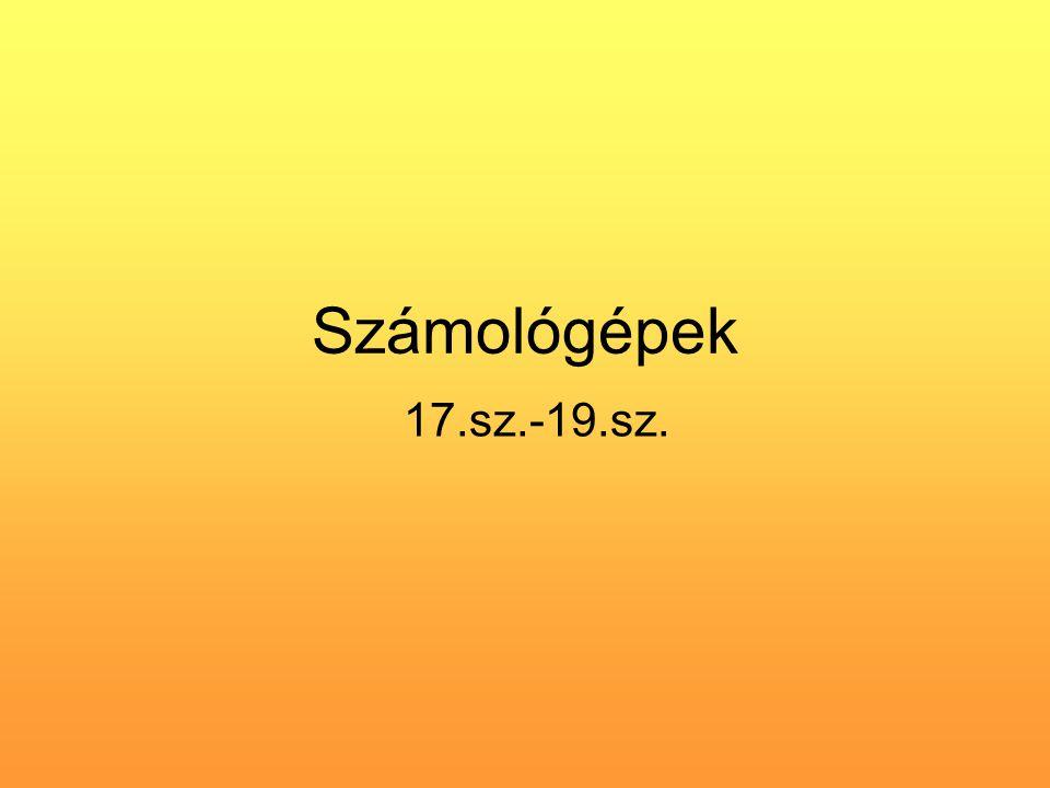 Számológépek 17.sz.-19.sz.