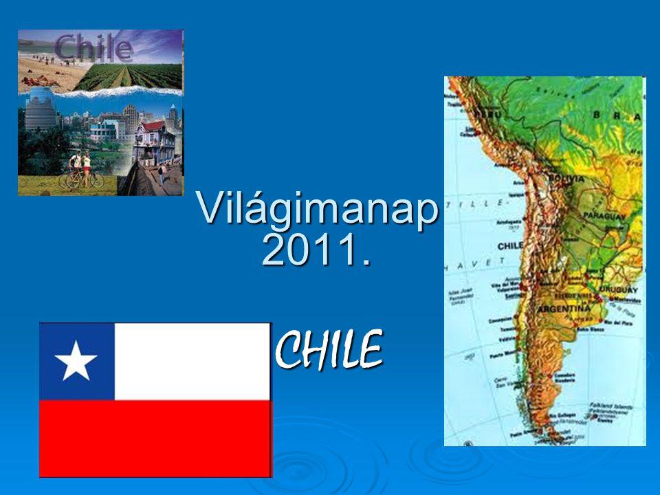 Chile a Csendes- óceán és az Andok közt terül el Dél-Amerika legdélibb végén – Peru, Bolívia, Argentína határolja, illetve az Antarktisz és a Csendes-óceán.