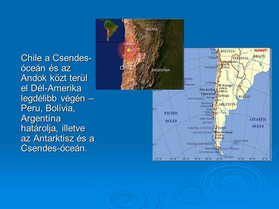 Gazdaság  Chile gazdasága a kibányászott ércek kereskedelmén alapul.