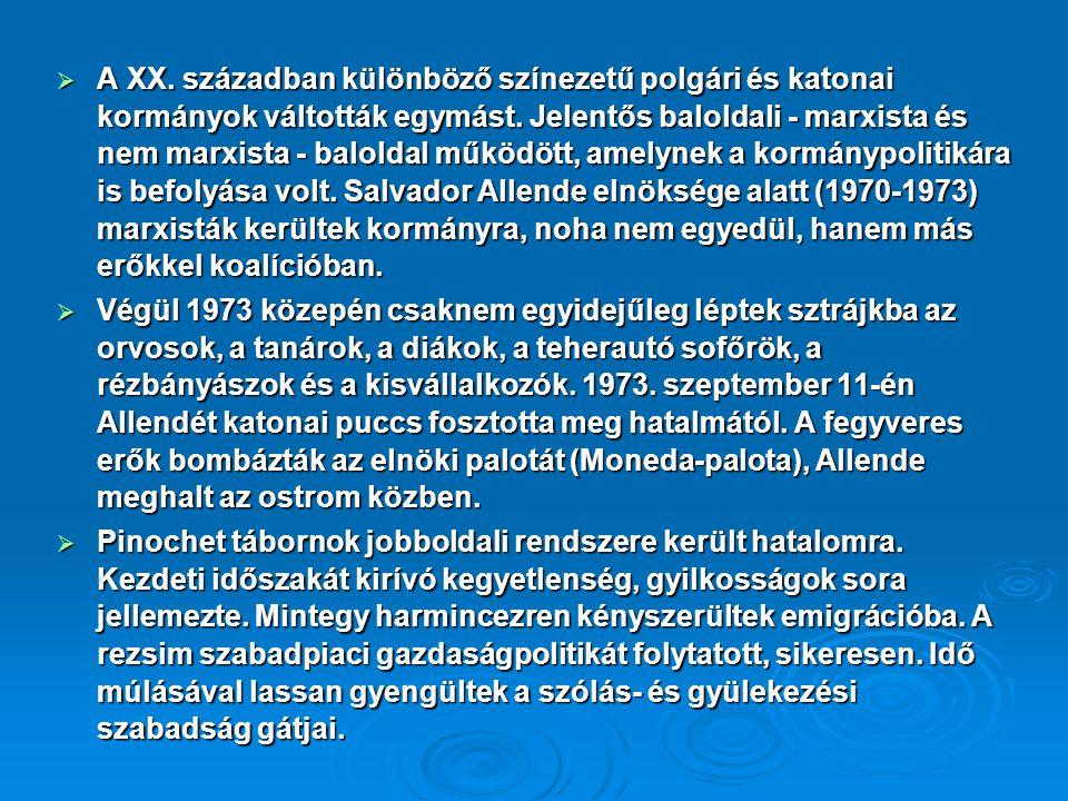  Gabriela Mistral 1945-kapta meg az irodalmi Nobel-díjat és 195-ben a nemzeti irodalmi díjat.
