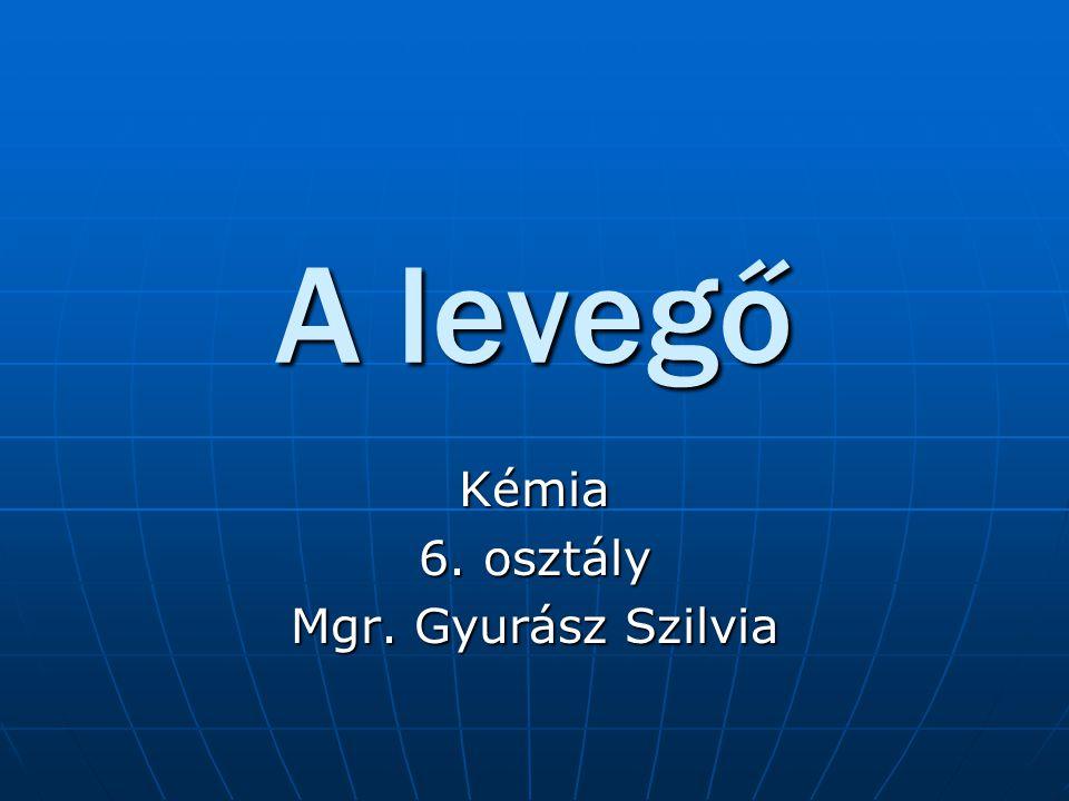 A levegő Kémia 6. osztály Mgr. Gyurász Szilvia