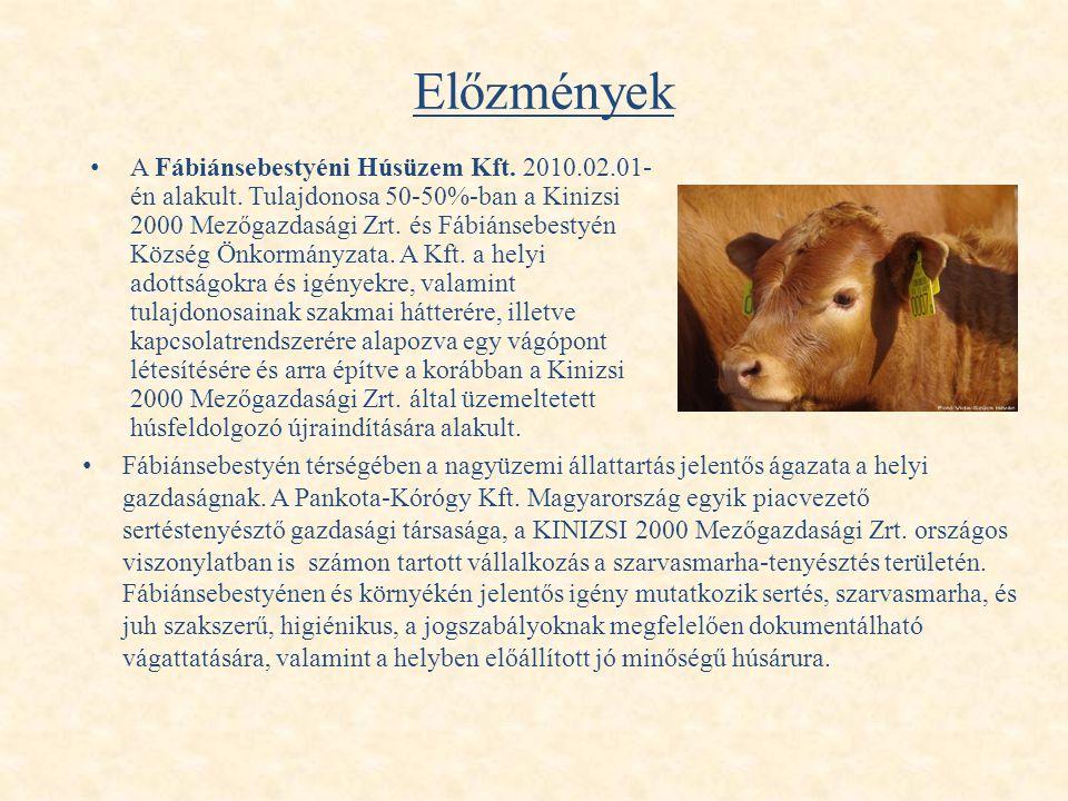 Előzmények • Fábiánsebestyén térségében a nagyüzemi állattartás jelentős ágazata a helyi gazdaságnak. A Pankota-Kórógy Kft. Magyarország egyik piacvez