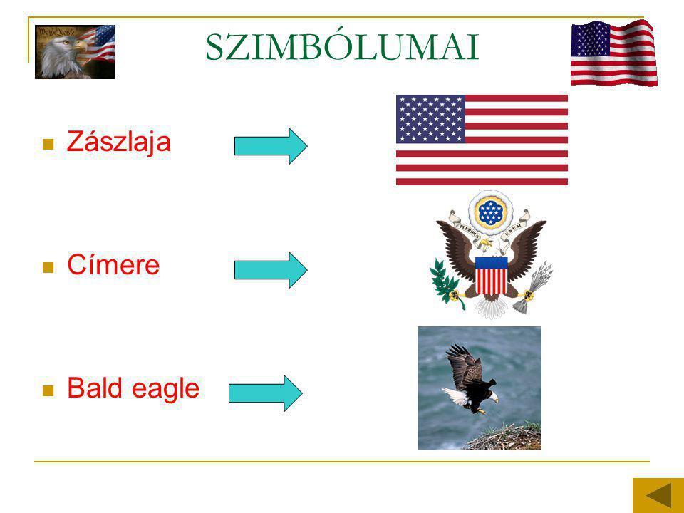 SZIMBÓLUMAI  Zászlaja  Címere  Bald eagle