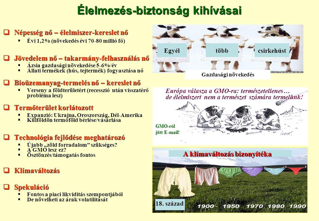  GSzÖ (2007): 619,0 ezer egyéni gazdaság 7,4 ezer gazdasági szervezet 619,0 ezer egyéni gazdaság 7,4 ezer gazdasági szervezet Egyéni gazdaság (kisegítő is) Egyéni gazdaság (kisegítő is)  1 sertés vagy 400 m 2 zöldség/gyümölcs zöldség/gyümölcs Önellátó gazdaság Önellátó gazdaság Üzemi struktúra alakulása néhány uniós tagországban Forrás: KSH: Gazdaságszerkezeti összeírás: GSzÖ (2007), Eurostat(2007) Forrás: KSH: Gazdaságszerkezeti összeírás: GSzÖ (2007), Eurostat (2007) Gazdaságok átlagos területe (ha) Dánia 57,6 Németország 48,3 Lengyelország 7,07,07,07,0 Szlovákia 45,5 Magyarország 8,78,78,78,7