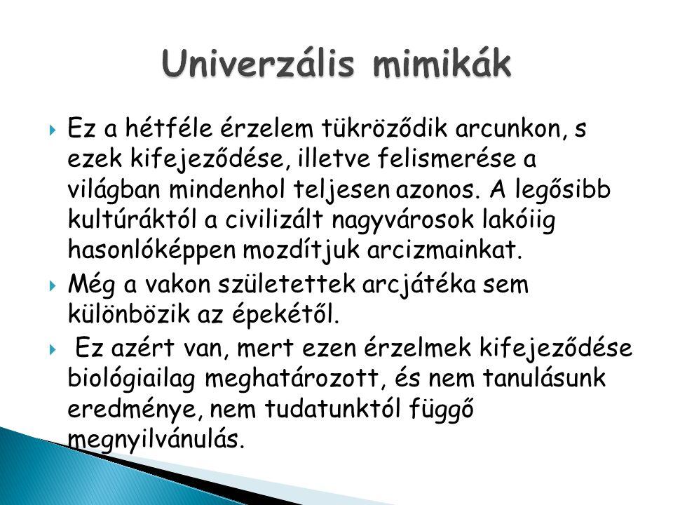  http://janus.ttk.pte.hu/tamop/tananyagok/k omm_elm/223__mimika.html http://janus.ttk.pte.hu/tamop/tananyagok/k omm_elm/223__mimika.html  http://idegen-szavak.hu/keres/mimika http://idegen-szavak.hu/keres/mimika  http://erettsegizz.com/magyar- nyelvtan/verbalis-es-non-verbalis- kommunikacios-jelzesek/ http://erettsegizz.com/magyar- nyelvtan/verbalis-es-non-verbalis- kommunikacios-jelzesek/  A mimika szerepe a jelnyelvben.