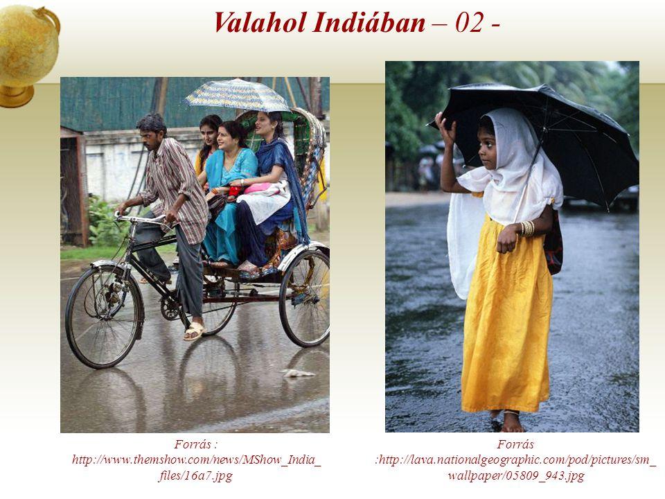 Forrás : http://www.centralchronicle.com/20060704/rain.jpg Forrás : http://news.bbc.co.uk/olmedia/1465000/images/_1465036_ rain300.jpg Valahol Indiába