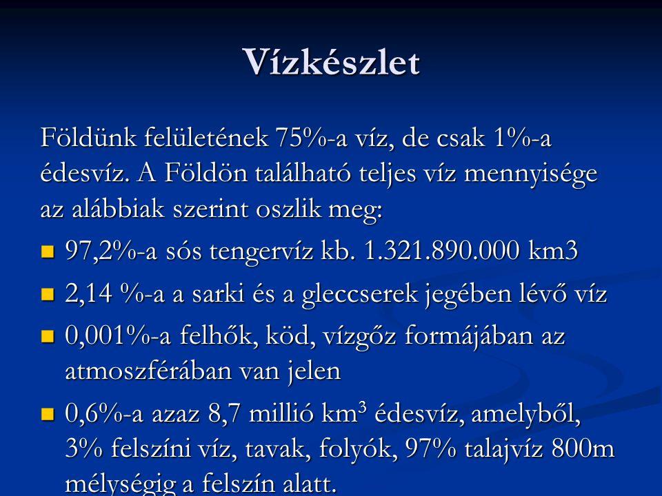 7. Folyó elgátolásával keletkezett tó: Pl. Tisza-tó,