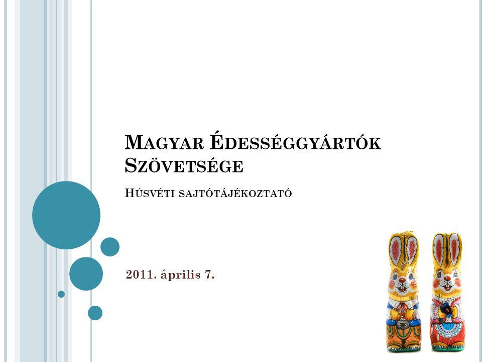 M AGYAR É DESSÉGGYÁRTÓK S ZÖVETSÉGE H ÚSVÉTI SAJTÓTÁJÉKOZTATÓ 2011. április 7.