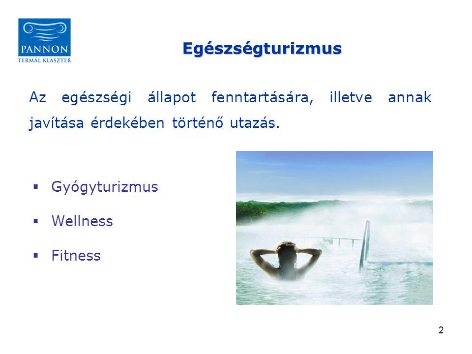 """13  az egészségturizmus kínálatának nemzetközi verseny- képességgel rendelkező hálózata jön létre  a klaszter többletérték-termelő hálózattá válik  tagsága felöleli a Nyugat-Dunántúl és a Balaton északi partja közötti területen található termálvizes fürdőket, a gyógyászat klinikai helyeit, amelyek a turizmusban erős pozíciót foglalnak el, a vonzerő köré rendeződött szálláshelyeket, vendéglátó- és egyéb szabadidős- kínálatot nyújtó szolgáltatókat  földrajzilag ésszerű határok között működik, de szoros """"klaszterszintű együttműködést alakít ki a szomszédos klaszterekkel is  nagyságrendjében olyan taglétszámmal működő szervezet, amely átlátható és a napi együttműködés lehetőségét nyújtja A klaszter működési jövőképe"""
