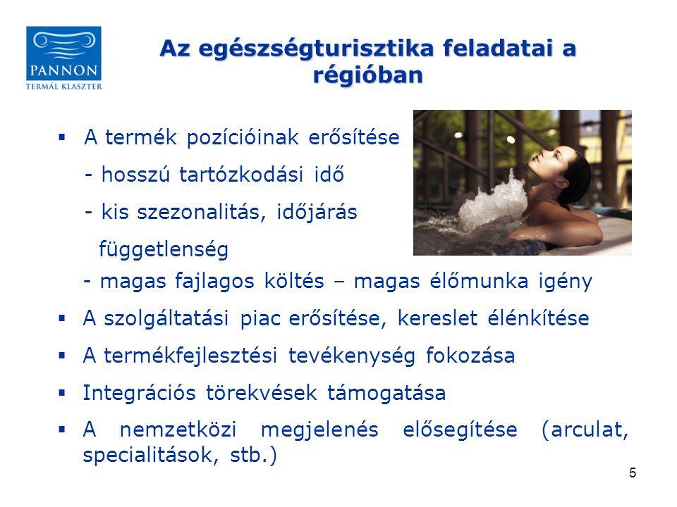 16 Célok:  egy sikeres egészségturizmus desztináció felépítése a nemzetközi piacra  új turisztikai termékek fejlesztése, értékesítése  marketing a nemzetközi piacon Megvalósítás:  közös márka megalkotása  közös pályázatok  közös szinergiahatások érvényesítése Burgenland – Pannonia – Slowenien – Steiermark